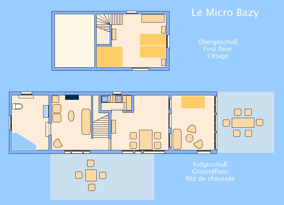 Le Micro Bazy - Grundriss
