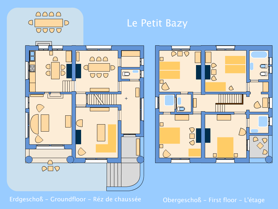 Le Petit Bazy - groundplan